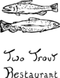 Two Trout Restaurant Logo Logo